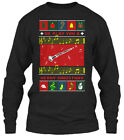 Off-the-rack Clarinet Ugly Christmas Sweater - We Gildan Long Sleeve Tee T-Shirt