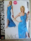 McCalls Pattern M6837 Ms FASHION STAR One Shoulder Fitted Evening Dress Sz 6-14