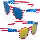 MJ Eyewear's USA American Flag Classic Sunglasses Mirror Lens Patriotic gift