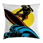 Ride the Wave Throw Pillow Cases Cushion Covers Home Decor 8 Sizes by Ambesonne