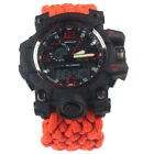 G-LEAF Emergency Survival Paracord Watch with Compass, Knife, Light