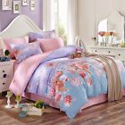 Cotton Floral Duvet Doona Quilt Cover Set Single/Queen/King Size Bed Covers New