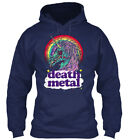 Zombie Unicorn Death Metal Way - Gildan Hoodie Sweatshirt