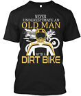 Fashionable Old Man With A Dirt Bike - Never Hanes Tagless Tee T-Shirt