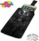 FALLEN ANGEL GOTHIC WINGS TATTOO - Universal Leather Pouch Phone Case Cover