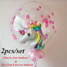 Внешний вид - 24in Latex Balloon + Unicorn Foil Balloons Baby Shower Birthday Party Decoration