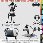 Funny Girl Loves To Golf Sticker Decal