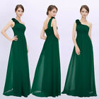US Women Long One-shoulder Formal Evening Party Dress Bridesmaid Prom Gown 08237