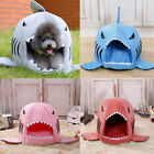 Pet Puppy Dog Cat Shark Mouth House Warm Sleeping Bag Soft Bed Kennel Cushion