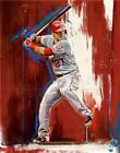 166822 Mike Trout KE Los Angeles Angels Top Player Decor Wall Print Poster on Ebay