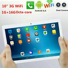 "10"" 16GB Android 4.4 Tablet PC Octa Core HD 3G Bluetooth WIFI Dual SIM Camera AM"