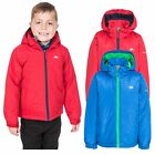 Trespass Rudi Boys Waterproof Jacket Raincoat with Hood Blue Red