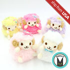 Japan Amuse Heartful Girly Wooly Sheep Plush Ball Chain Cute Kawaii Bow Mascot