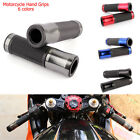 "Motorcycle Aluminum CNC Rubber Gel Hand Grips 7/8"" 1"" Handle Bars For Honda BMW"