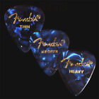 12 Fender Celluloid Guitar Picks Blue Moto - Thin, Med, Heavy Or A Mix Of Sizes