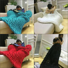Large Hand Woven Blanket Super Thick Chunky Yarn Knitted Throw Gift 120*150cm image