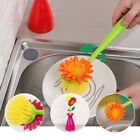 Sunflower Dish Washing Brush Kitchen Bowl Pot Sink Cleaning Scrubber Brushes US