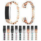 Diamond Stainless Steel Replacement Smart Watch Band Strap For Fitbit Alta/ HR