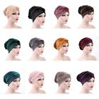 Women Lace/Gold Velvet Cancer Chemo Hat Soft Scarf Turban Ladies Head Wrap Cap