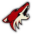 Phoenix Coyotes NHL Hockey Head Logo Car Bumper Sticker - 9'', 12'' or 14'' on eBay