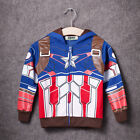 Kids Boys Superhero Spiderman Hooded Jacket Coat Hoodies Sweatshirt Jumper Tops