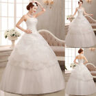 New White Ivory A Line Wedding Dress Bridal Gown Custom Size 6 8 10 12 14 16 18