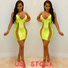 Sexy Women's Bandage V-neck Bodycon Evening Party Club Cockt