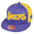 NBA Mitchell Ness Los Angeles Lakers TU61 Wool Mesh Fitted Hat Cap