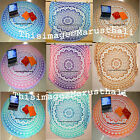 Indian Round Mandala Table Cover Hippie Wall Hanging Beach Throw Yoga Mat Decor
