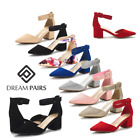 DREAM PAIRS Women's Pump Low Chunky Heel Party Work Comfort Dress Pump Shoes US