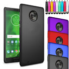 Rubberized Armour Hard Shell Case Cover + Screen + Stylus For Motorola Moto G6