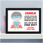 Personalised Will You Be My Page Boy Usher Best Man Super Hero Superhero Gifts