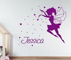 Personalised Name and Magical Fairy Wall Sticker For Girls Bedroom Wall Art AG13
