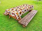 Harvest Outdoor Picnic Tablecloth Ambesonne in 3 Sizes Washable Waterproof