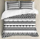 Ethnic Henna Duvet Cover Set Twin Queen King Sizes with Pillow Shams Ambesonne