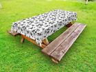Summer Flowers Outdoor Picnic Tablecloth in 3 Sizes Washable Waterproof