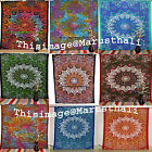 Psychedelic Indian Mandala Tapestry Jaipur Print Cotton Bedspread Wall Hanging