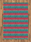 Colorful Shapes Area Rug Decorative Flat Woven Accent Rug Home Decor 2 Sizes