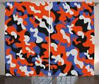 Camouflage Curtains 2 Panel Set Decor 5 Sizes Available Window Drapes