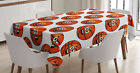 Sports Theme Tablecloth by Ambesonne 3 Sizes Rectangular Table Cover Decor