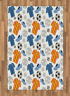 Sports Theme Area Rug Decorative Flat Woven Accent Rug Home Decor 2 Sizes
