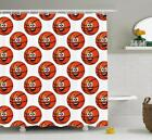 Sports Theme Pattern Shower Curtain Fabric Decor Set with Hooks 4 Sizes