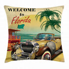 Florida Throw Pillow Cases Cushion Covers Home Decor 8 Sizes Ambesonne