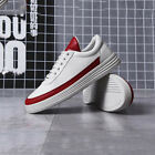 New Men Fashion White Sneakers Casual Shoes Comfy Wild Sports Athletic Leather