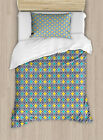 Oriental Geometric Duvet Cover Set Twin Queen King Sizes with Pillow Shams