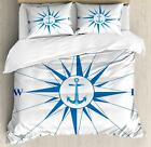 Grunge Compass Duvet Cover Set Twin Queen King Sizes with Pillow Shams