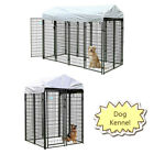 Dog Kennel Steel Wire Outdoor Heavy Duty Pet Cage Pen Run House w/ Shade Shelter