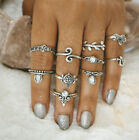 10Pcs/Set Women Wedding Engagement Party Joint Ring Vintage Accessories Rings