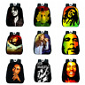 12 Inch Bob Marley Printing Girls Boys School Backpack Kids Gift Book Bag