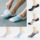 Men's 5 Pairs Socks Cotton Invisible Non-slip No Show Low Cut Loafer Boat Socks